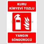 ZY1937 - ISO 7010 Kuru Kimyevi Tozlu Yangın Söndürücü