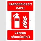 ZY1938 - ISO 7010 Karbondioksit Gazlı Yangın Söndürücü