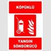 ZY1946 - ISO 7010 Tekerlekli Köpüklü Yangın Söndürücü