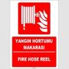 ZY1951 - ISO 7010 Türkçe İngilizce Yangın Hortumu Makarası, Fire Hose Reel