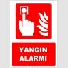 ZY1960 - ISO 7010 Türkçe İngilizce Yangın Alarmı, Fire Alarm
