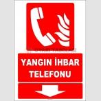 ZY1983 - ISO 7010 Yangın İhbar Telefonu, Aşağı Tarafta