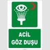 ZY2027 - ISO 7010 Acil Göz Duşu