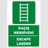 ZY2087 - ISO 7010 Türkçe İngilizce Kaçış Merdiveni, Escape Ladder