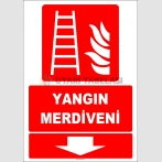 ZY2091 - ISO 7010 Yangın Merdiveni, Aşağıda