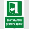 ZY2053 - ISO 7010 Sağ Taraftan Çekerek Açınız