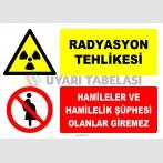 ZY2172 - ISO 7010 Radyasyon Tehlikesi, Hamileler ve Hamilelik Şüphesi Olanlar Giremez
