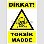 ZY1830 - ISO 7010 Dikkat Toksik Madde