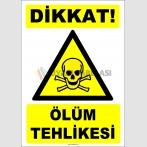 ZY2196 - ISO 7010 Dikkat Ölüm Tehlikesi