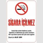ZY2234 - Sigara İçilmez, 4207 Sayılı Kanun Gereği Asılması Zorunlu Yasal Uyarı Levhası, Şikayet için Alo 184