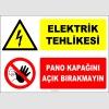 ZY2217 - Elektrik Tehlikesi, Pano Kapağını Açık Bırakmayın