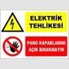 ZY2220 - Elektrik Tehlikesi, Pano Kapaklarını Açık Bırakmayın