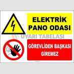 ZY2219 - Elektrik Pano Odası, Görevliden Başkası Giremez