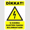 ZY2227 - ISO 7010 Dikkat! İç Kısımda Elektrik Panosu Bulunmaktadır