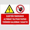 ZY2248 - Elektrik Panosunun Altındaki Yalıtkan Paspası Yerinden Kaldırmak Yasaktır