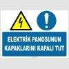 ZY2253 - ISO 7010 Elektrik Panosunun Kapaklarını Kapalı Tut