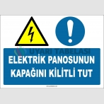 ZY2256 - ISO 7010 Elektrik Panosunun Kapağını Kilitli Tut