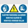 ZY2271 - Elektrik Panosunda Çalışırken Koruyucu Eldiven ve Koruyucu Ayakkabı Kullan