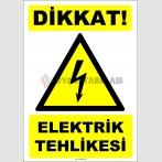 ZY2283 - ISO 7010 Dikkat! Elektrik Tehlikesi