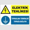 ZY2337 - ISO 7010 Elektrik Tehlikesi, Topraklama Terminalini Toprağa Bağlayın