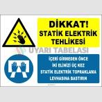 ZY2340 - Dikkat! Statik Elektrik Tehlikesi, İçeri Girmeden Önce İki Elinizi Üç Kez Statik Elektrik Topraklama Levhasına Bastırın