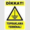 ZY2349 - Dikkat! Topraklama Terminali