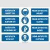 ZY2378 - ISO 7010 Türkçe İngilizce, Antistatik Baret, Eldiven, Ayakkabı, Giysi, Antistatic Helmet, Shoes, Gloves, Clothing