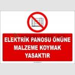 ZY2435  - Elektrik Panosu Önüne Malzeme Koymak Yasaktır