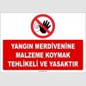 ZY2450  - Yangın Merdivenine Malzeme Koymak Tehlikeli ve Yasaktır