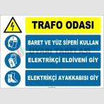 ZY2486 - Trafo Odası, Baret ve Yüz Siperi Kullan, Elektrikçi Eldiveni Giy, Elektrikçi Ayakkabısı Giy