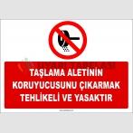 ZY2573 - Taşlama Aletinin Koruyucusunu Çıkarmak Tehlikeli ve Yasaktır