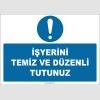 ZY2610 - İşyerini Temiz ve Düzenli Tutunuz