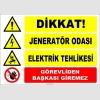 ZY2490 - Dikkat! Jeneratör Odası, Elektrik Tehlikesi, Görevliden Başkası Giremez