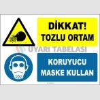 ZY2773 - Dikkat! Tozlu Ortam, Koruyucu Maske Kullan