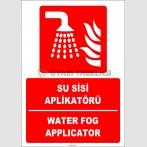 ZY1972 - ISO 7010 Türkçe İngilizce Su Sisi Aplikatörü, Water Fog Applicator
