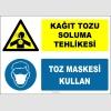 ZY2874 - Kağıt Tozu Soluma Tehlikesi, Toz Maskesi Kullan