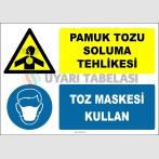 ZY2875 - Pamuk Tozu Soluma Tehlikesi, Toz Maskesi Kullan