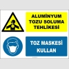 ZY2884 - Aluminyum Tozu Soluma Tehlikesi, Toz Maskesi Kullan