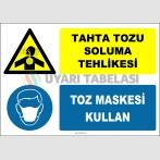 ZY2892 - Tahta Tozu Soluma Tehlikesi, Toz Maskesi Kullan