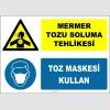 ZY2895 - Mermer Tozu Soluma Tehlikesi, Toz Maskesi Kullan