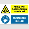ZY2899 - Kireç Taşı Tozu Soluma Tehlikesi, Toz Maskesi Kullan