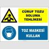 ZY2910 - Cüruf Tozu Soluma Tehlikesi, Toz Maskesi Kullan
