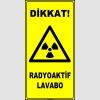 ZY2918 - ISO 7010 Dikkat! Radyoaktif Lavabo