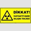 ZY2920 - ISO 7010 Dikkat! Radyoaktif Madde Bulaşma Tehlikesi