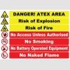 EF1197 - İngilizce Danger! ATEX Area Levhası
