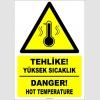 EF1218 - Türkçe İngilizce Tehlike! Yüksek Sıcaklık, Danger! High Temperature