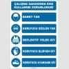 EF1296 - Çalışma Sahasında KKD Kullanımı Zorunludur, Baret, Gözlük, Eldiven, Reflektif Yelek, Ayakkabı