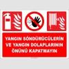 EF1337  - Yangın Söndürücülerin ve Yangın Dolaplarının Önünü Kapatmayın
