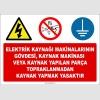 EF1369 - Topraklama Yapmadan Elektrik Kaynağı Yapmak Yasaktır Levhası