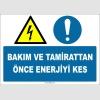 EF1376 - Bakım ve Tamirattan Önce Enerjiyi Kes
